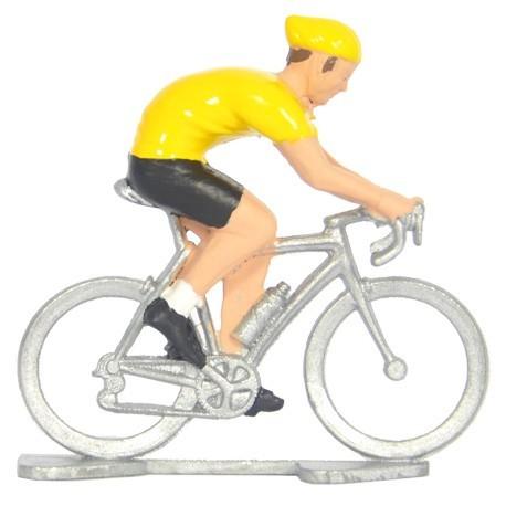 Gele trui N - Miniatuur wielrennertjes