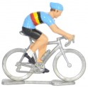 Miniature cyclist figurines
