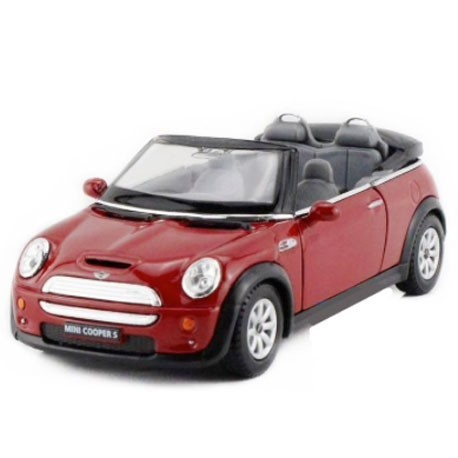 Mini Cooper S Convertible 1:32 Rood - Miniatuur wagentjes