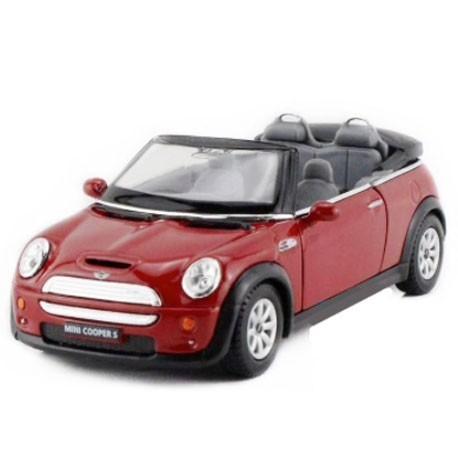 Mini Cooper S Convertible 1:32 Rouge - Voitures miniatures