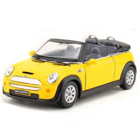 Mini Cooper S Convertible Yellow - Miniature cars