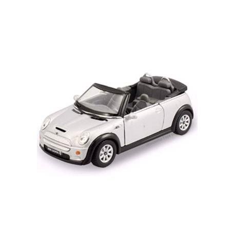 Mini Cooper S Convertible 1:28-1:32 Grijs - Miniatuur wagentjes