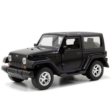 Jeep Wrangler 1:32 Zwart - Miniatuur wagentjes