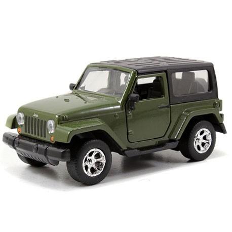 Jeep Wrangler 1:32 Groen - Miniatuur wagentjes
