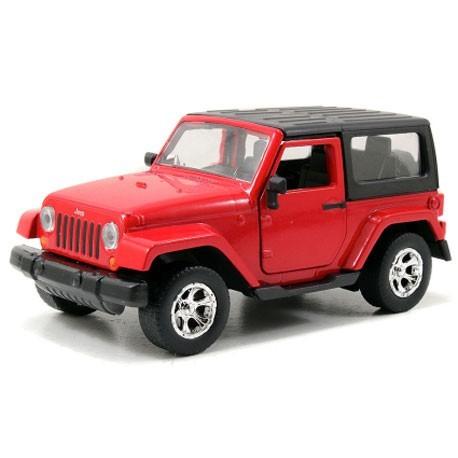 Jeep Wrangler 1:32 Rood - Miniatuur wagentjes