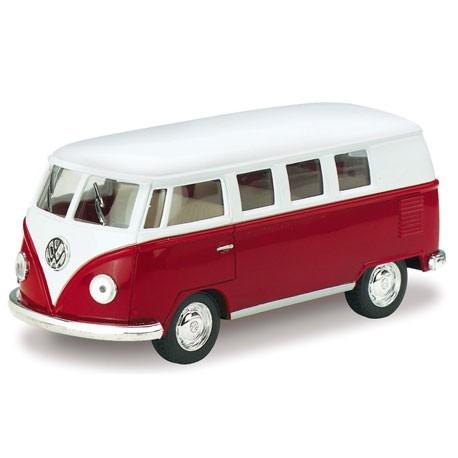 Volkswagen 1962 classical bus 1:32 Rood - Miniatuur wagentjes