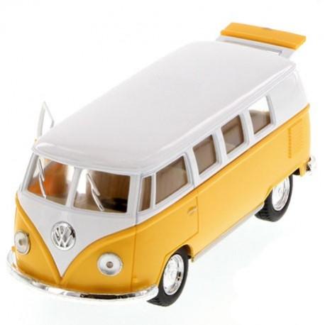 Volkswagen 1962 classical bus 1:32 Geel - Miniatuur wagentjes