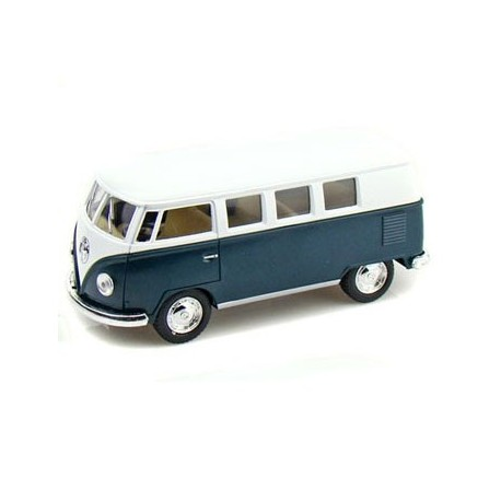 Volkswagen 1962 classical bus 1:32 Green - Miniature cars