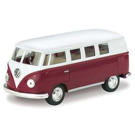 Volkswagen 1962 classical bus 1:32 Bordeaux - Miniature cars