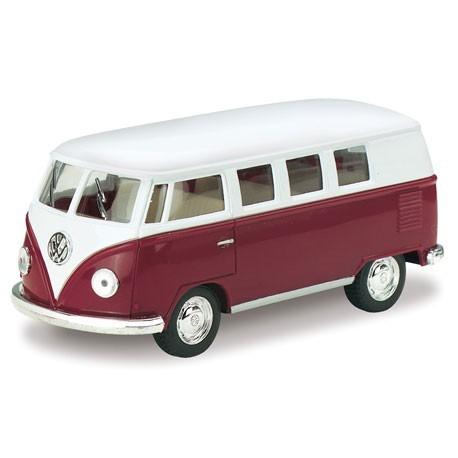 Volkswagen 1962 classical bus 1:32 Bordeaux - Miniatuur wagentjes