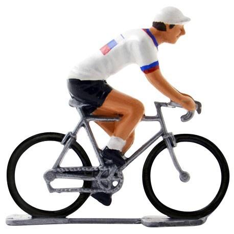 Slovakian champion K-W - Miniature cyclist figurines