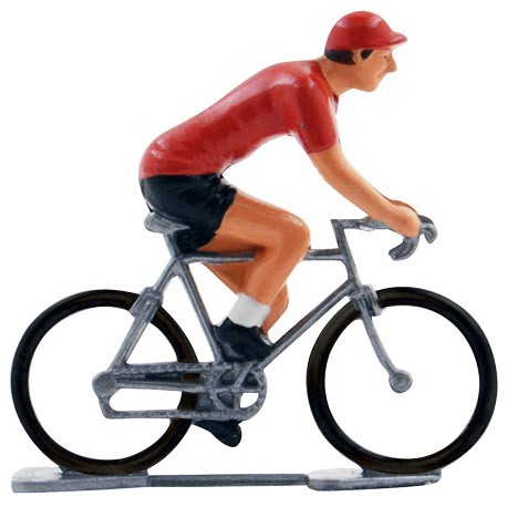 Red jersey K-W - Miniature cycling figures