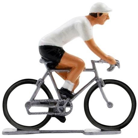 White jersey K-W - Miniature cyclists