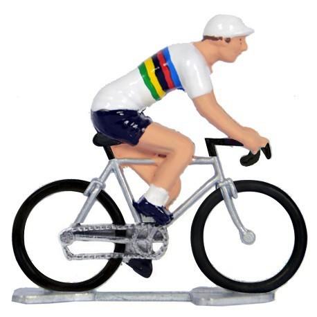 Worldchampion K-W - Miniature cyclist figurines