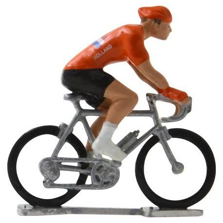 Holland World championship H-W - Miniature cyclist figurines