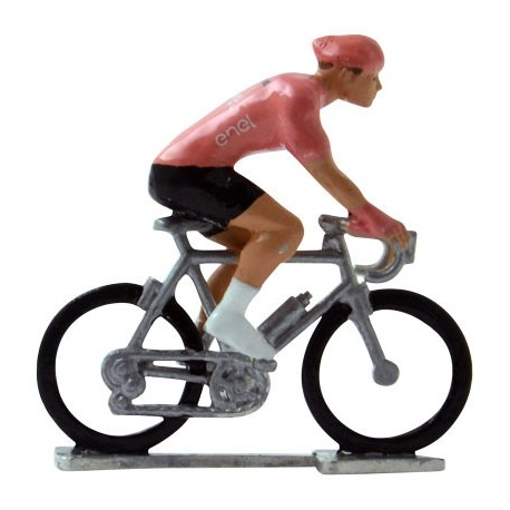 Pink jersey H-W - Miniature cycling figures