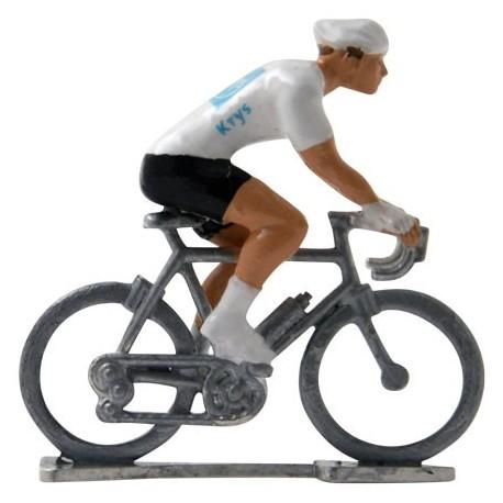 Witte trui H - Miniatuur wielrennertjes