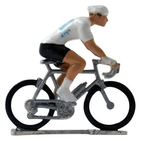White jersey H-W - Miniature cyclists