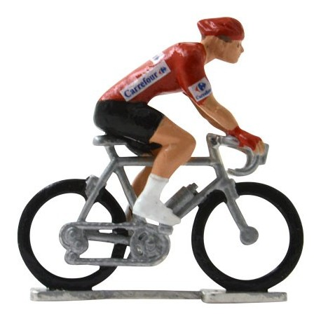 Red jersey H-W - Miniature cycling figures