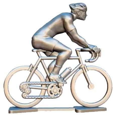 Custom made cyclist + wheels + bike H-W - Miniature cyclists
