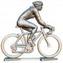 Custom made female cyclist + wheels + bike HDF-WB - Miniature cyclists