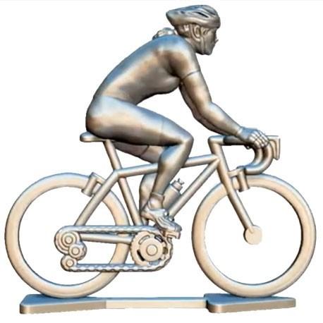 Custom made female cyclist + wheels + bike HF-WB - Miniature cyclists