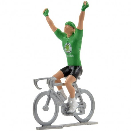 Green jersey winner HW - Miniature cyclists