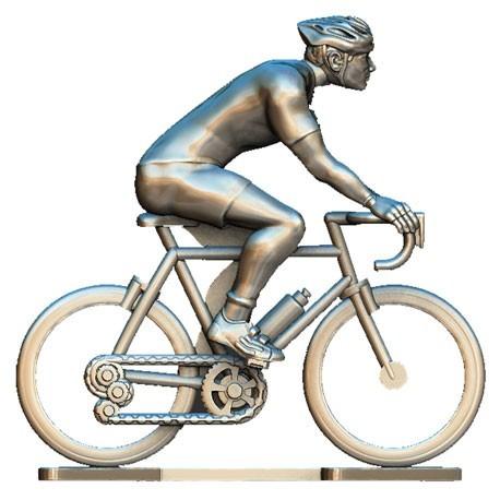 Custom made cyclist + wheels H-W - Miniature cyclists