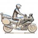 Politiemotor met bestuurder op maat - Miniatuur wielrenners
