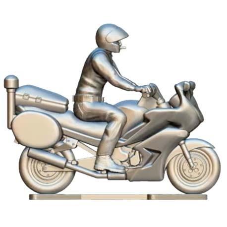 Moto de police avec conducteur sur mesure - Cyclistes miniatures