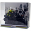 Gift wrap for motorcycle - miniature cyclist figurines