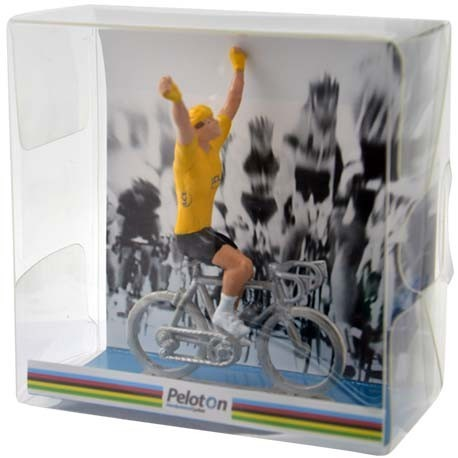 Emballage cadeau type vainqueur - Cyclistes miniatures