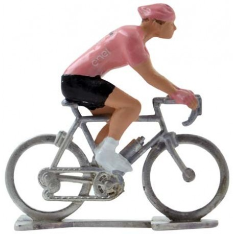 Pink jersey H - Miniature cycling figures