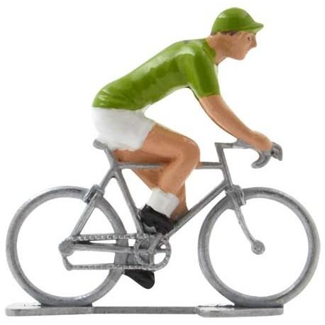 Miniature cyclist figurines