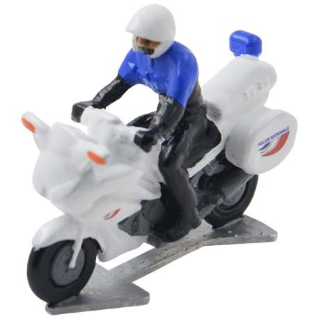 Police motorbike France with driver - Miniature cyclist figurines