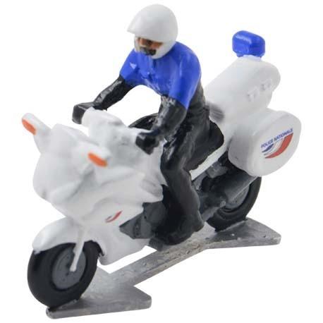 Politiemotor Frankrijk met bestuurder - Miniatuur wielrenners