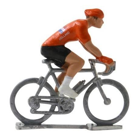 Holland World championship H - Miniature cyclist figurines