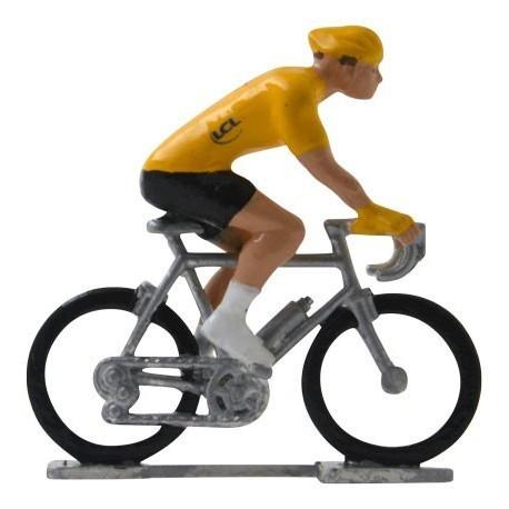 Gele trui H-W - Miniatuur wielrennertjes