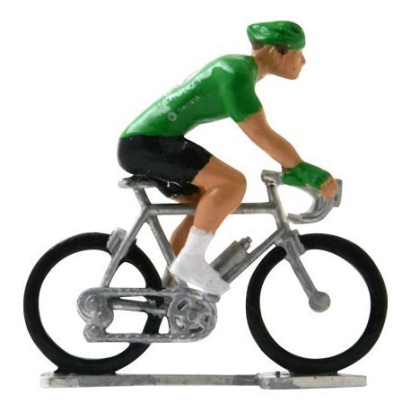 Green jersey H-W - Miniature cyclists