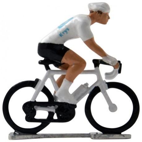 White jersey H-WB - Miniature cyclists