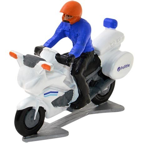Police motorbike with driver - Miniature cyclist figurines