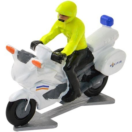 Politiemotor Nederland met bestuurder - Miniatuur wielrenners