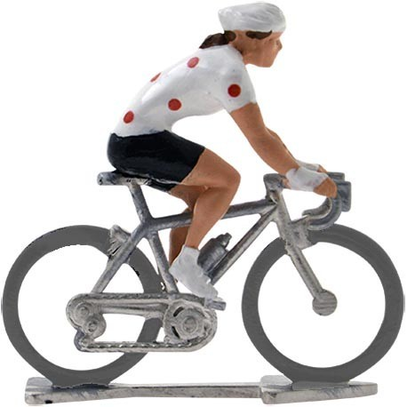 Polka-dot jersey HDF - Miniature cycling figures