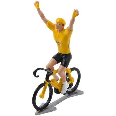 Gele trui winnaar HDW-WB - Miniatuur wielrennertjes
