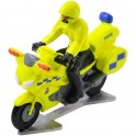 Politiemotor Groot-Brittannië met bestuurder - Miniatuur wielrenners