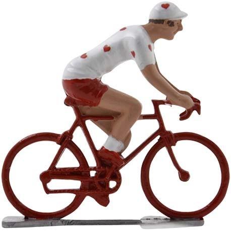 Hearts cyclist WB - Miniature cyclists
