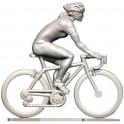 Custom made vrouwelijke renster + wielen + fiets HF-WB - Miniatuur wielrennertjes