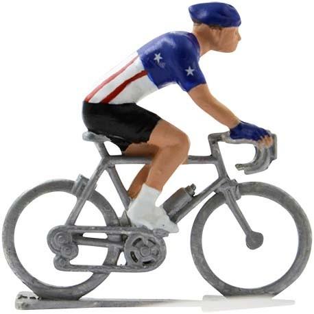 United States champion H - Miniature cyclist figurines