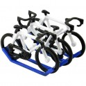 Carrier with 3 bikes painted - Miniature cyclist figurines