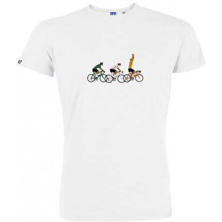 T-shirt Polka-dot/Green/Yellow jersey White